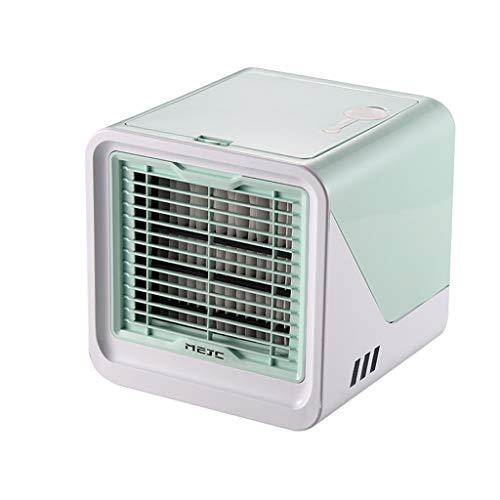 happy event - Mini Ventilatore Portatile 3 in 1, umidificatore e purificatore d'Aria, Mini refrigeratore USB con Serbatoio dell'Acqua e 3 Livelli di Potenza per casa e Ufficio