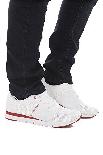 Calvin Klein Jeans Jado Mesh, Sneakers Basses Homme Blanc (Wht 000)