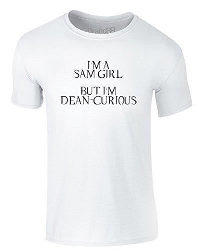 Brand88 - I'm a Sam Girl, But I'm Dean-Curious, Erwachsene Gedrucktes T-Shirt Weiß/Schwarz