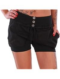 BD Damen Hot Pants Stretch Shorts Pump Harem Hose
