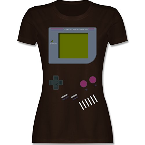 Nerds & Geeks - Gameboy - M - Braun - L191 - Damen T-Shirt ()