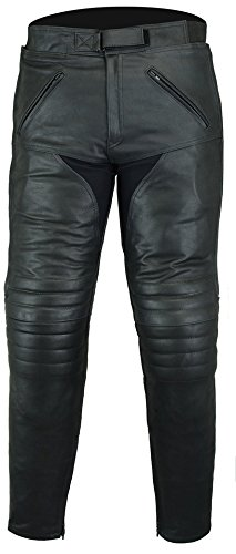 Motorcycle Touring Leather Jeans Trousers CE Armoured (36S)
