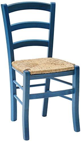 Fashion commerce 02-fc310b set di sedie, legno, blu, 42x43x88 cm, 2 unità