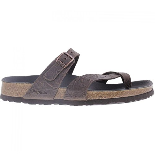 Papillio Womens by Birkenstock Tabora Leather Sandals Relief Brown