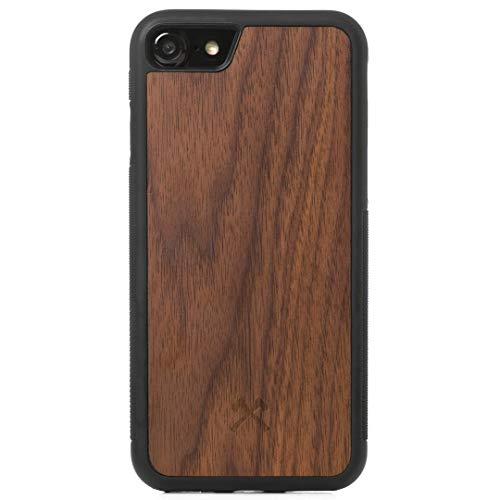 Woodcessories - Hülle kompatibel mit iPhone 7 Plus / 8 Plus aus Holz - EcoBump Case (Walnuss) -