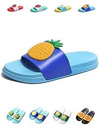 75288a7cf21 YUHUAWYH Kid Boy Girl Cute Bathroom Slippers Summer Beach Sandals Women Men  Indoor Shower Shoes Colorful