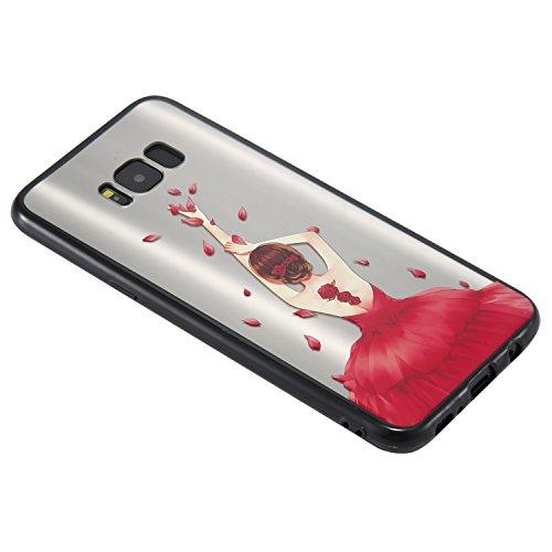 S8 Plus Hülle ,Samsung S8 Plus Shell Case , Galaxy S8 Plus Black Hülle, Cozy Hut® [Liquid Crystal] [Matte Black] [With Lanyard/Strap] Samsung Galaxy S8 Plus Ultra Slim Schutzhülle ,Anti-Scratch Shockp Federkleid