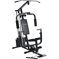 Physionics Fitnessstation Kraftstation Multistation Trainingsstation Fitnessgeräte Inkl. 40kg Gewichte Für Komplettes Workout