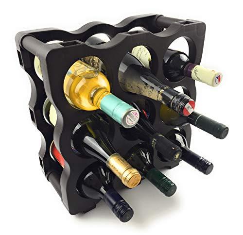 Botellero Weinregal - modular erweiterbares Flaschenregal aus hochwertigem Kunststoff (dunkelbraun)...