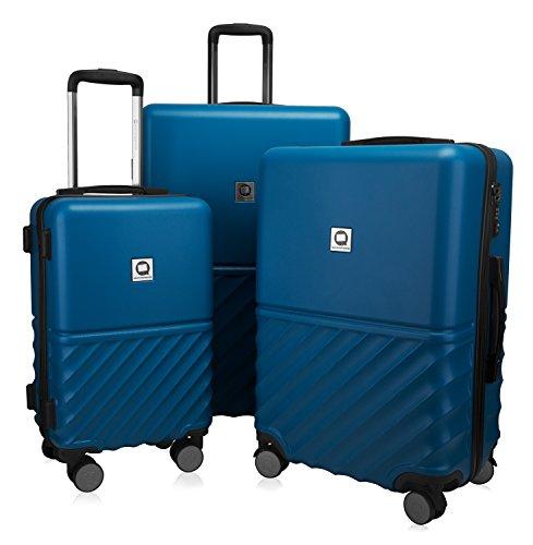 HAUPTSTADTKOFFER - Boxi - 3er Koffer-Set Trolley Rollkoffer Reisekoffer TSA, 4 Rollen, (S, M & L), 75 cm, 207 L, Dunkelblau