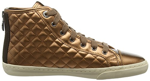 Geox New Club, Scarpe da Tennis Donna Marrone (Copper)