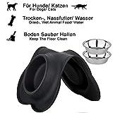 Napf Set für Katzen & kleinere Hunde – 2x Edelstahlnapf incl. flexiblem Silikontablett - 2