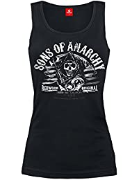 Sons Of Anarchy Charming California Top Mujer Negro S