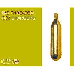 5x Bombona Botella de CO2 16g con rosca para Inflado de Rueda Neumatico Bicicleta