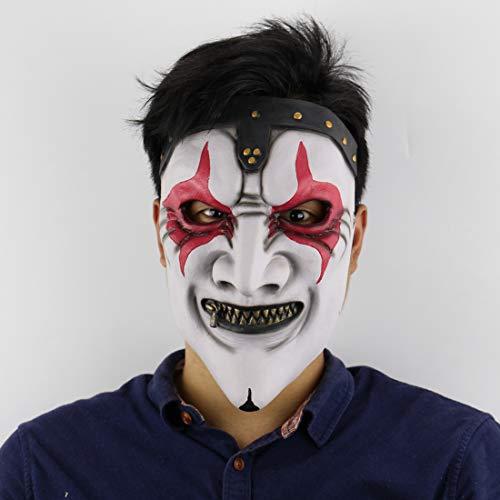 Reißverschluss Mund Maske Halloween Horror Beängstigend Haunted Haus Set Live-Maske Film Maske ()