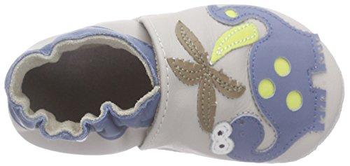 Robeez Dino Club, Chaussures de Naissance Bébé Garçon Gris (Gris Clair)