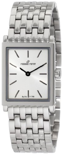 Pierre Petit Women's P-790E Serie Nizza Stainless-Steel Square Case Bracelet Watch