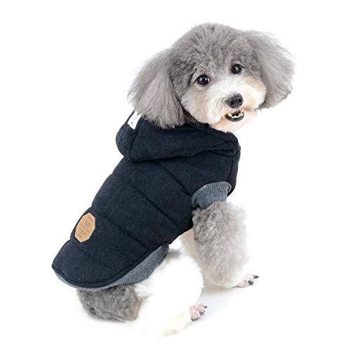 Ranphy Winterjacke für Hunde, gepolstert, mit Kapuze, für Katzen und Welpen, kaltes Wetter, Jacke für kleine Hunde unter 9 kg (Größe S bis 2 Größen als US-Größe) -