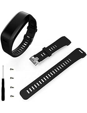 Armband Kompatibel für Garmin Vivosmart HR,Kaiki Mode Sport Silikon Band Strap Armband + Werkzeug für Garmin Vivosmart...
