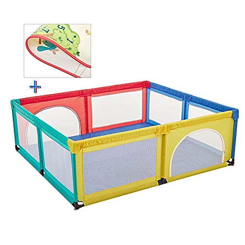 Laufgitter Anti-Kollisions-Babyplaypen mit Infant Krabbeln Mat - Bunte 8-Panel Kinderspiel Zaun für Indoor Outdoor, laufstall (Color : H 70cm, Size : 180x190cm)