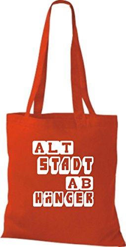 Tote Bag Shirtstown Funny Dice Old Town Hanger Molti Colori Rosso