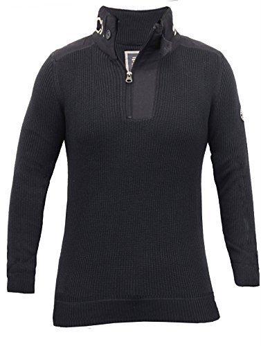 Crosshatch Neue Herren Hi Rücken/Knie/Knit Pullover Jumper Top S M L XL, Jumper, Garforth (Funnel Neck Top Knit)