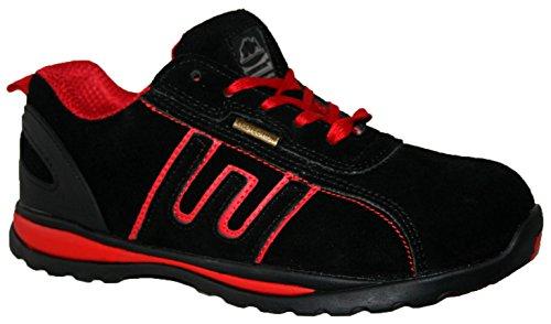 Groundwork Gr86, Unisex Erwachsene Sportliche Sicherheitsschuhe Rot