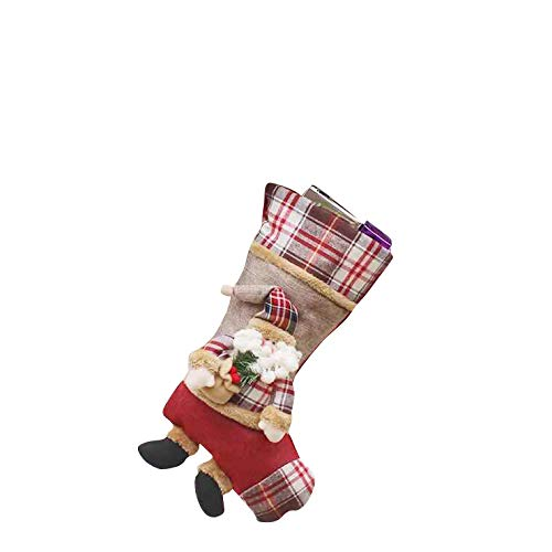 thematys Nikolaus-Stiefel Weihnachtsstrumpf zum Befüllen & Aufhängen in 10 verschiedenen Designs - die perfekte Weihnachtsdeko (14)