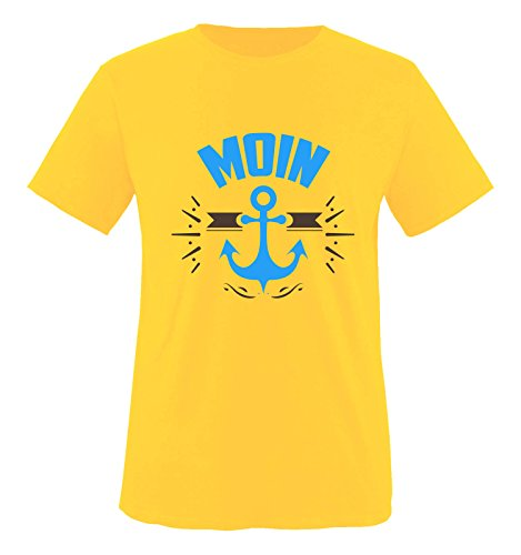 Hündin Gelbes T-shirt (Comedy Shirts - MOIN - ANKER - Jungen T-Shirt - Gelb / Blau-Braun Gr. 110/116)