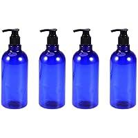 Yarnow Dispensador de Loción de Botella de Bomba Azul Botella Vacía con Bomba Multipropósito para Champú de Emulsión Botella de Lavado Corporal 4 Piezas
