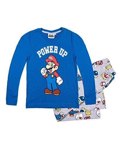 Super Mario -  Pigiama due pezzi  - ragazzo Blue 104 cm, 3-4 Anni