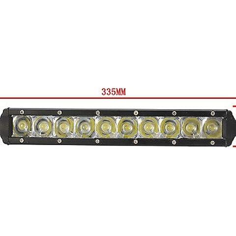 50W barra luminosa a LED 5000lm Spot per spegnere il trattore su strada Carrello barca ATV 4WD 4x4 di lavoro della barra di guida luce,12V,Nero
