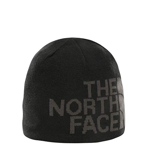 The north face rvsbl tnf banner bne, berretto unisex adulto, nero (tn blk/greylogo), taglia unica