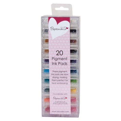 Papermania Mini-Stempelkisse, Pigmenttinte, 20 Stück