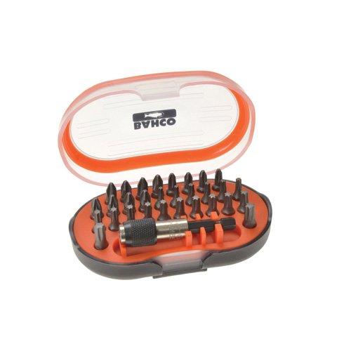 Bahco-Bitsatz für Phillips-, Pozidriv- und Torx®-Schrauben, 31-teilig