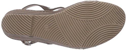 Rohde Palermo Damen Offene Sandalen mit Keilabsatz Beige (taupe 11)