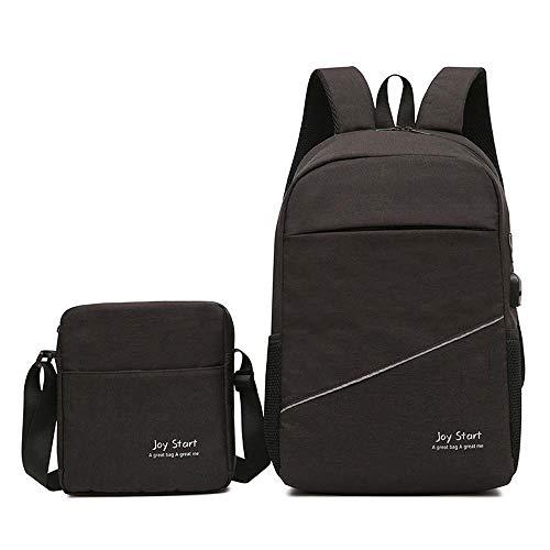 GONGFF Koreanische Laptopbeutel-Schultasche des Freizeitreiserucksackmannes koreanische Multifunktions,Black