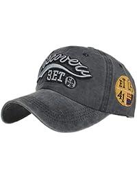 Berretto da Baseball Unisex Berretto da Baseball Estivo in Cotone Lavato  con Lettere e Cappelli Sportivi f44dbf82ce0c