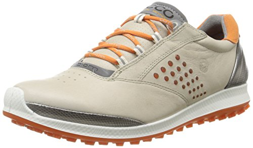 Ecco  ECCO WOMEN'S GOLF BIOM HYBRID 2, Chaussures de Golf femme - Beige - Beige (OYESTER/ORANGE57864), 37