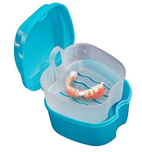 TAOtTAO Gebiss Bad Box Fall Dental falsche Zähne Aufbewahrungsbox mit hängenden Net Container