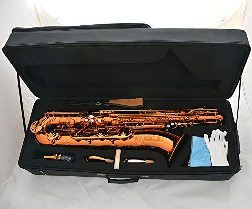 FidgetGear 2018 Baritonsaxophon, Bari-Saxophon, mit Koffer-Zubehör