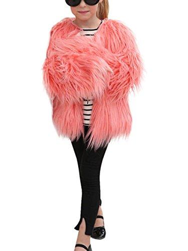Babykleidung Faux Jacke Hirolan Kinder Baby Mädchen Faux Pelz Mantel Dick Jacke Dick Warm Lange Hülse Outwear Herbst Winter Kleider (90cm, Rosa) (Junge Prinz Kostüm Ideen)