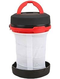 Maxxlite Pop-Up Flashlight Lantern Ultralight Flashlight and Collapsible Lantern in One Red