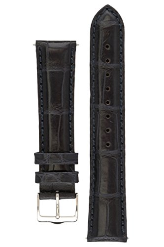 signature-dundee-in-blue-22-mm-watch-band-replacement-watch-strap-genuine-alligator-leather-silver-b