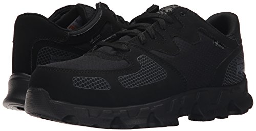 Timberland Pro Men s Powertrain Alloy Toe ESD Low Work Shoe  Black Synthetic Ripstop Nylon  15 W US