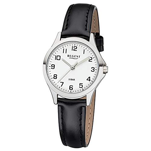 REGENT Damen-Armbanduhr analog Quarz Lederband W-0067