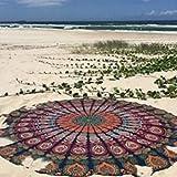 Indian Mandala Teppich, Round Strandhandtuch, Boho Picknick-Decke, Roundie Yoga-Matte, Hippie Wurf, Bohemian Tischdecke