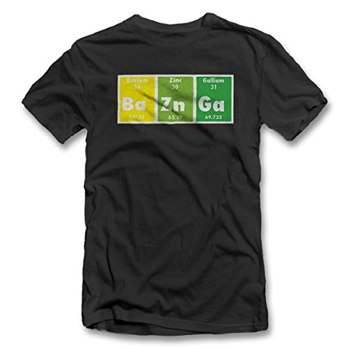 Bazinga Elements T-Shirt S-XXL 12 Farben / Colours Grau