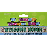 Unique Party 12ft Foil Welcome Home Banner