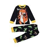 Malloom Kinder Kleinkind Baby Mädchen Jungen Cartoon Tops Hosen Outfits Set Pyjamas Nachtwäsche MARINE (marine, 7T)